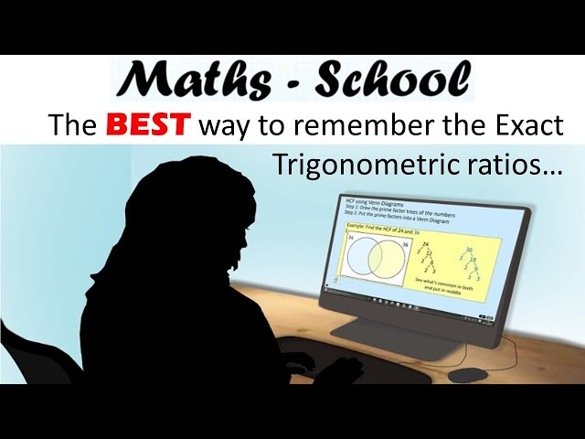 How to Remember Trig Ratios for Exact Values - a GCSE Maths Revision Lesson (Maths-School)