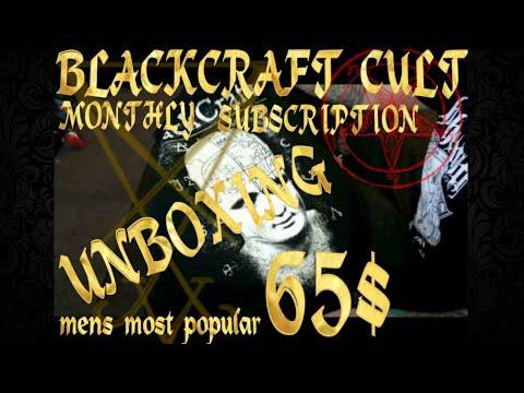 BLACKCRAFT CULT MONTHLY SUBSCRIPTION BOX 65$ MENS MOST POPULAR
