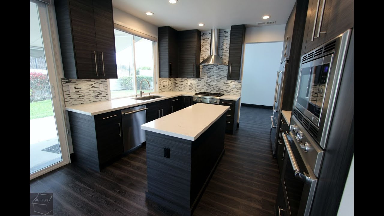 Modern design build kitchen remodel with sophia line cabinets in orange county youtube - Modern kitchen cabinets orange county ...