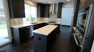 Modern Design Build Kitchen Remodel with Sophia Line Cabinets in Orange County