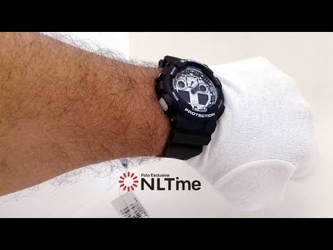 4668f12ce13 RELÓGIO G-SHOCK GA-100BW-1ADR - NLTime Relógios - YouTube