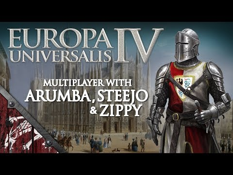 Let's Play EU4 Ep24 Beyond Typus with Arumba, Steejo and Zippy