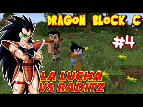 DRAGON BLOCK C : LA LUCHA CONTRA RADITZ HERMANO DE GOKU ! SAGA SAIYAN #4 ( MINECRAFT ) | RAFYTA