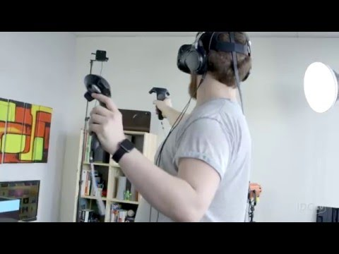 9a129cc2458a HTC Vive review  The best VR headset so far - YouTube