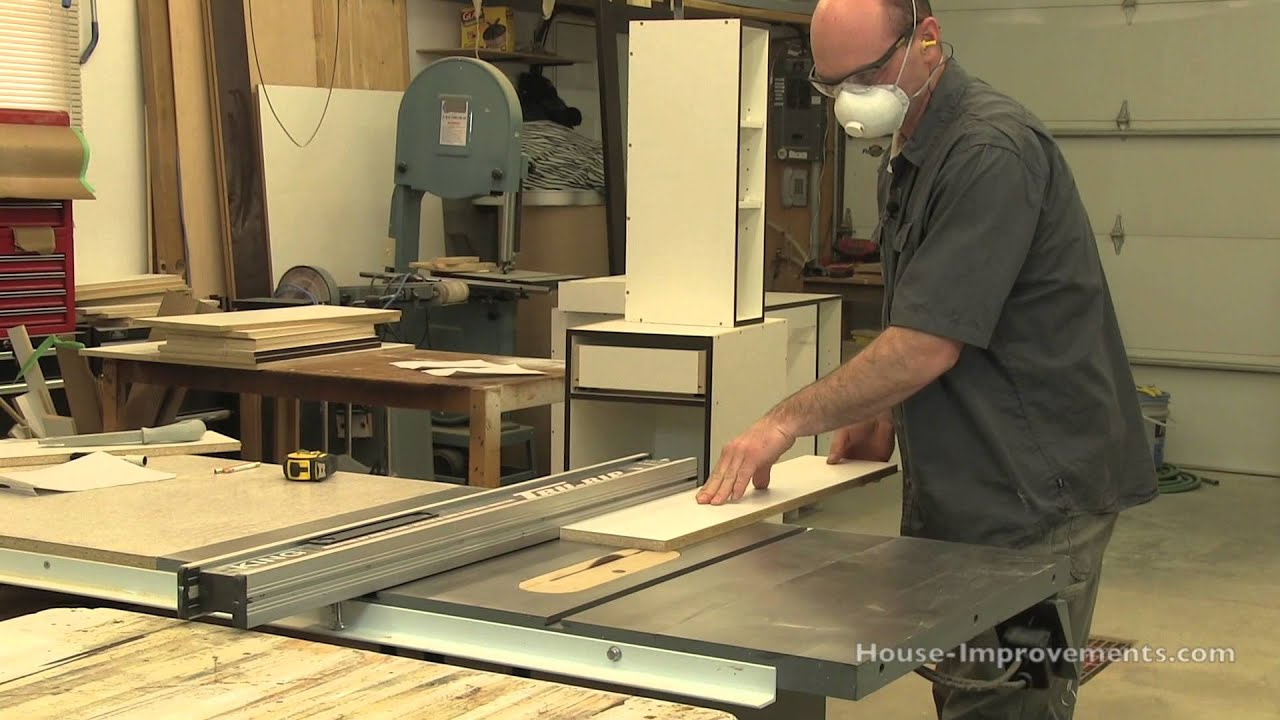 DIY Cabinet Building: Cutting Melamine & Edge Banding Tape - YouTube