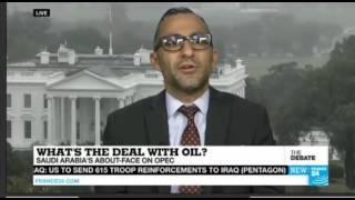 مشاركة د.محمد الصبان مع القناة الفرنسية (الإنجليزية) حول اتفاق أوبك وتطورات سوق الطاقة العالمي 9/29