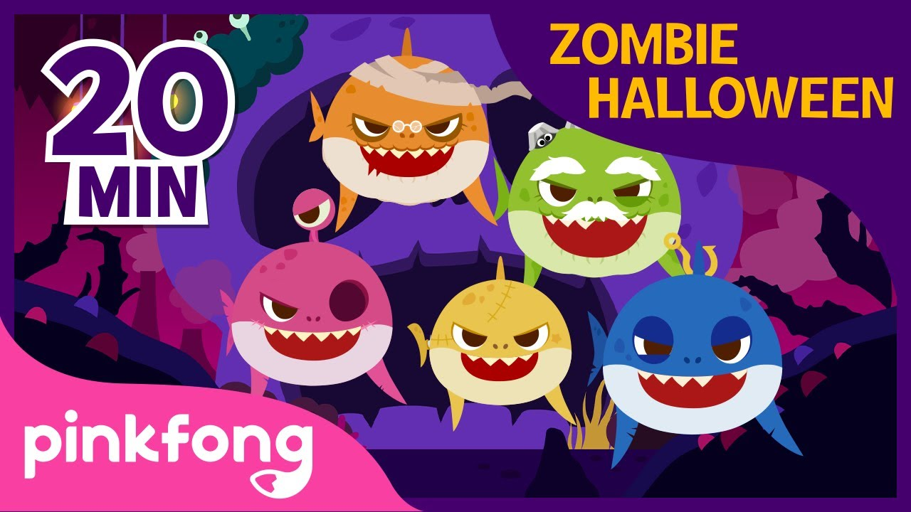 Halloween Zombie Sharks and more | +Compilation | Halloween Baby Shark | Pinkfong Songs for Children
