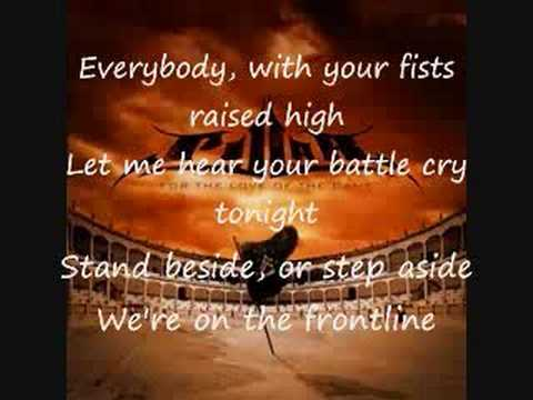 front line by pillar with lyrics!