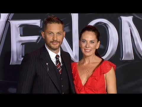 "Tom Hardy, Kelly Marcel ""Venom"" World Premiere Black Carpet"