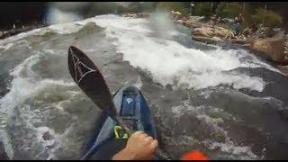 Upper Ocoee Whitewater Kayaking Using Hi-N-Dry Rolling Aid - Dad
