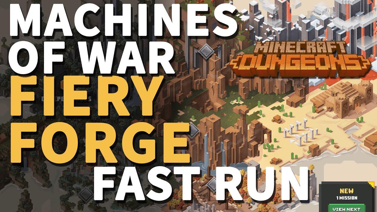 Fiery Forge Minecraft Dungeons Fast Walkthrough