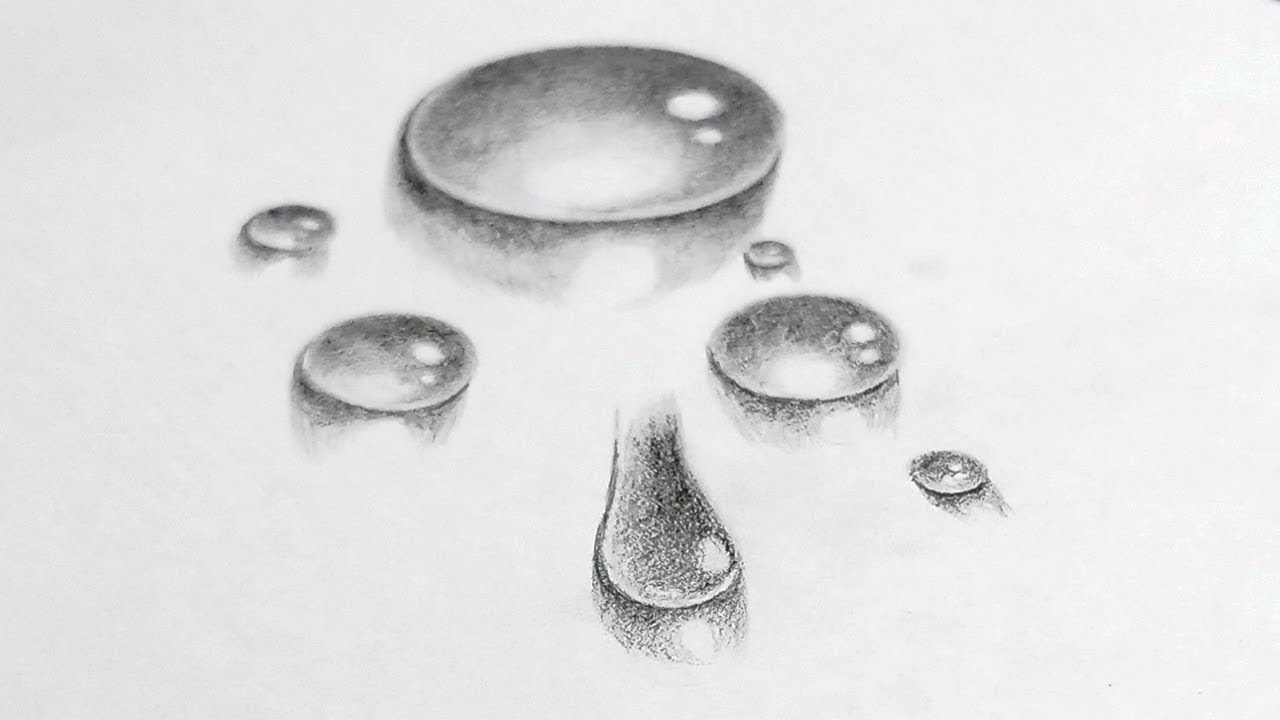 How to draw very realistic water drop pencil sketch drawing stylenrich
