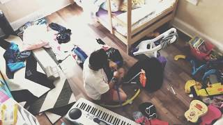 Cleaning and rearranging kids room | time lapse