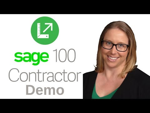 Sage 100 Contractor Preview Demo by TAG, Construction Accounting Software