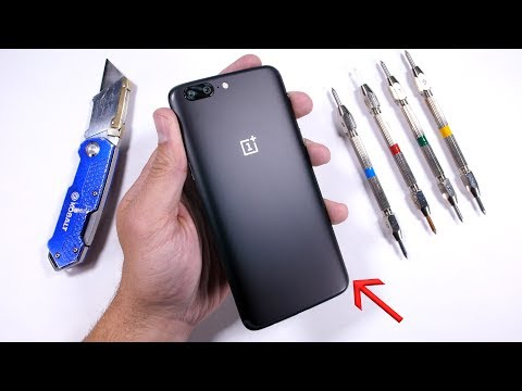 Thumbnail: OnePlus 5 Durability Test! Scratch - Burn - BEND Tested