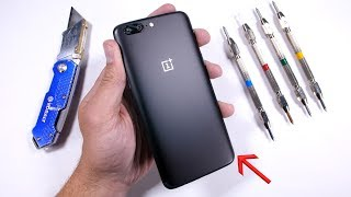 oneplus 5 durability test scratch burn bend tested