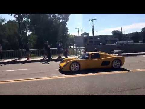 Supercars on State Street 2017 cars pulling out