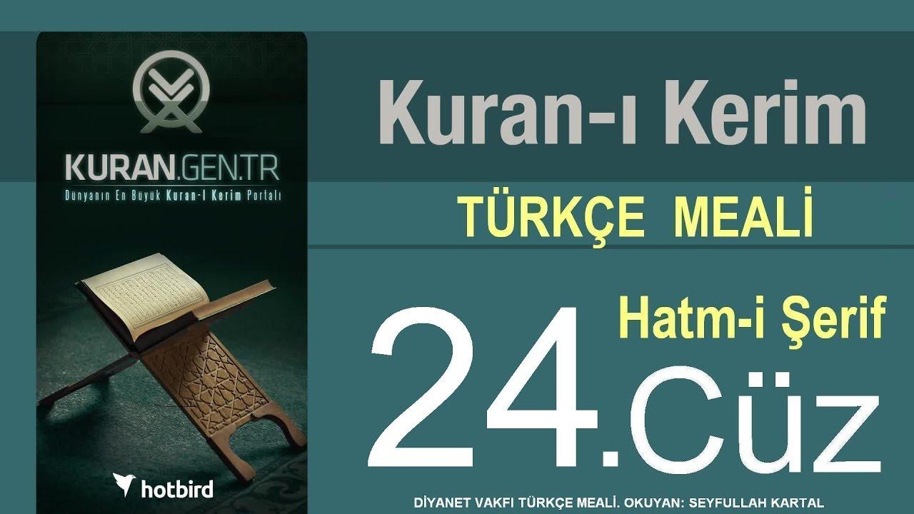Türkçe Kurani Kerim Meali, 24 Cüz, Diyanet işleri vakfı meali, Hatim, Kuran.gen.tr
