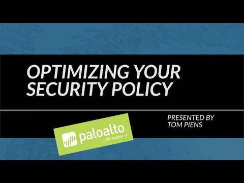 Tutorial: Configuring Your Security Policy