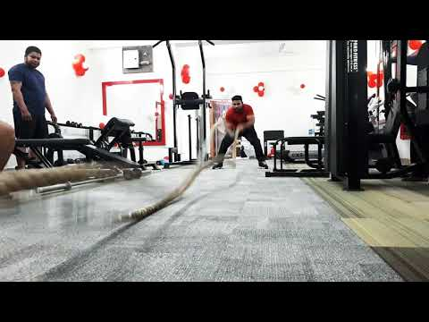 Battle rope at Status Fitness Club India