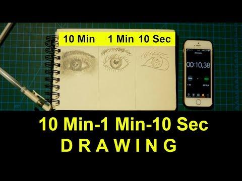 10 Dakika 1 Dakika 10 Saniye Resim (10 Minute 1 Minute 10 Second Drawing)