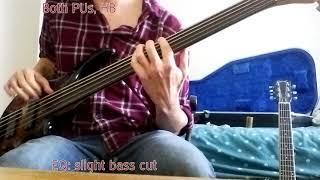 Demo: Shuker 5--string fretless (via a valve amp)