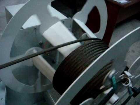 видео: Перемоточный станок ПС-60-800 - намотка троса
