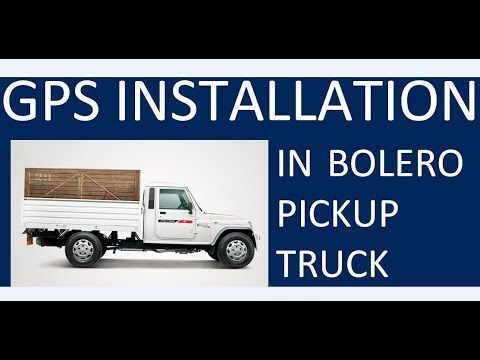 GT06 GPS installation in bolero pickup truck with ignition on off feature