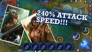 Yun Zhao vs Roger (240% attack speed!!!) -  mobile legends #1