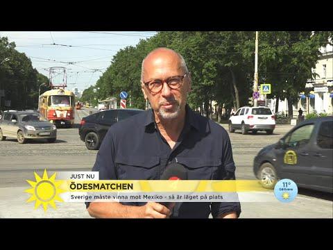 """Stefan Borg på plats i Ryssland: """"En del svenska fans är oroliga för arenan"""" - Nyhetsmorgon (TV4)"""
