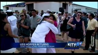 USS Hopper docks at Pearl Harbor-Hickam