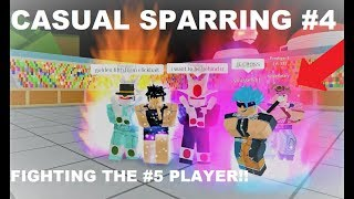 FIGHTING THE #5 PLAYER!! Casual Sparring #4 | Roblox: Dragon Ball Z Final Stand