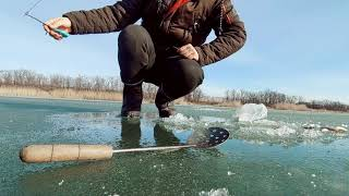 Выезд на последний лёд зимняя рыбалка