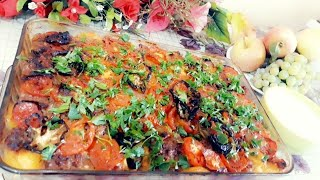 طريقة عمل صينية بطاطا بلحمة طريقة جديدة و لذيذة ||وصفاتي الخاصة لطبخ ام ثائر
