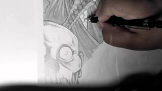 Black Lagoon (Revy V.S Zombies) Speed Drawing.