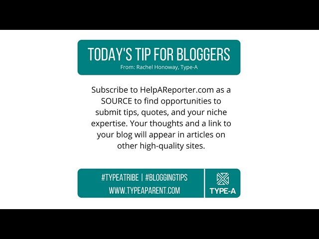 Today's Tip for Bloggers: HARO
