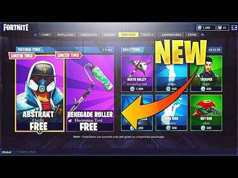 "🔴 New ""Abstrakt"" & ""Renegade Roller"" FREE ITEMS! 