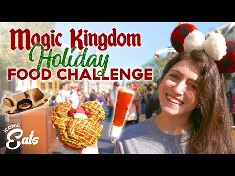 Ultimate Holiday Magic Kingdom Food Challenge: Trying All Of The Disney Treats