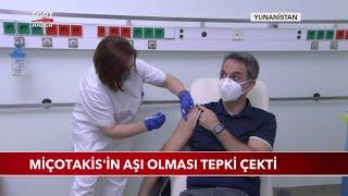 Miçotakis'in Aşı Olması Tepki Çekti