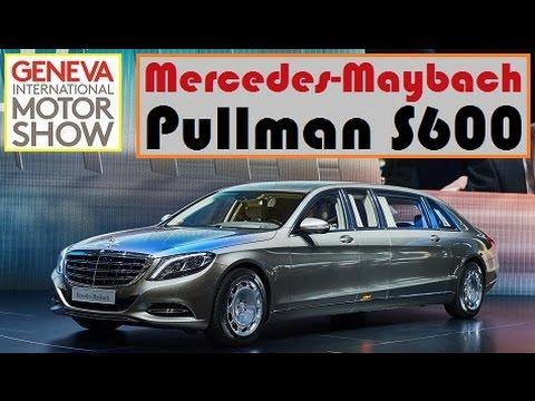 mercedes-maybach pullman s600, live photos at 2015 geneva motor show