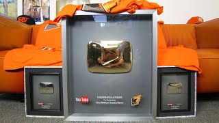 youtube golden play button 1 000 000 subscribers reward