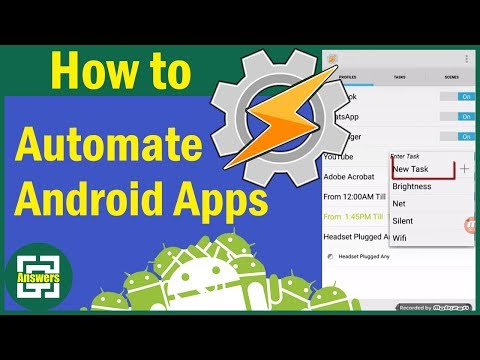 How To AUTOMATE Android Apps Using TASKER