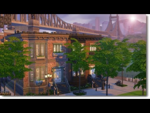 BROOKLYN TOWNHOUSES | The Sims 4 Speed Build