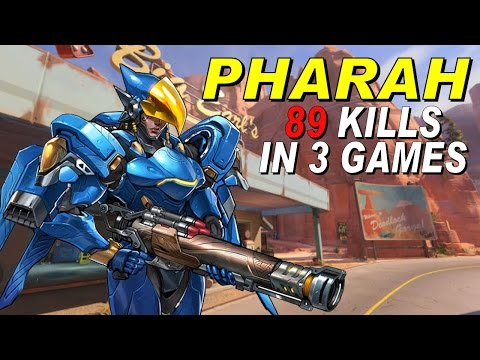 Pharah: 3 matches, 89-5 spread total
