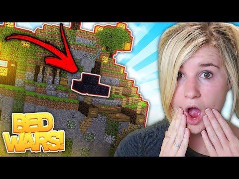 OBSIDIAN BED CHALLENGE | Bed Wars w/ Sharky Minecraft Little Kelly