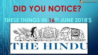 Did You Notice -June 16, 2018 for IAS || UPSC