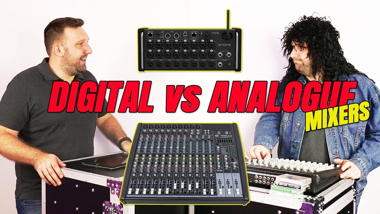 digital vs analogue mixers midas mr 18 vs show 16 channel mixer youtube. Black Bedroom Furniture Sets. Home Design Ideas