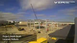 Project time lapse - Haydn Brush, Rolleston. VIP Structural Steel