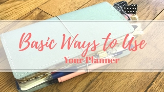 Basic Ways to Use Your Planner | Travelers Notebook Flip Through