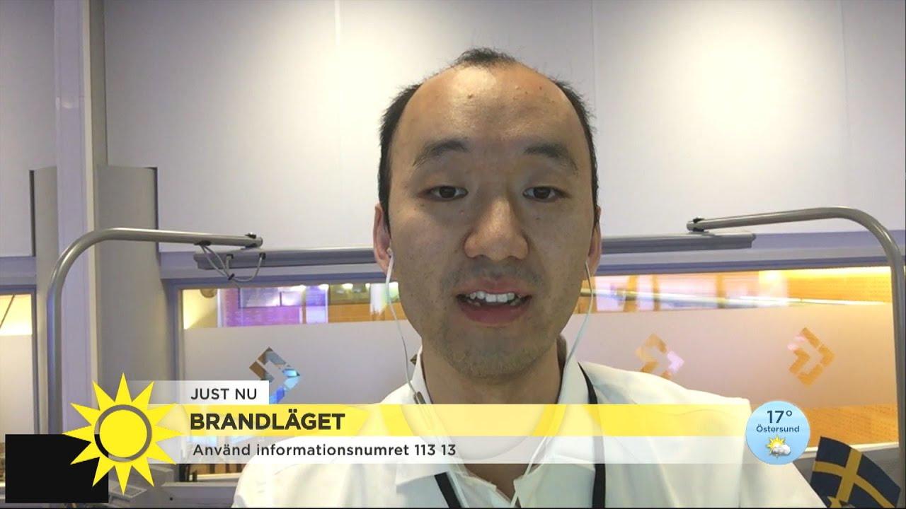 SOS Alarm - här är numret du ska ringa för att få rätt information om bränderna - Nyhetsmorgon (TV4)